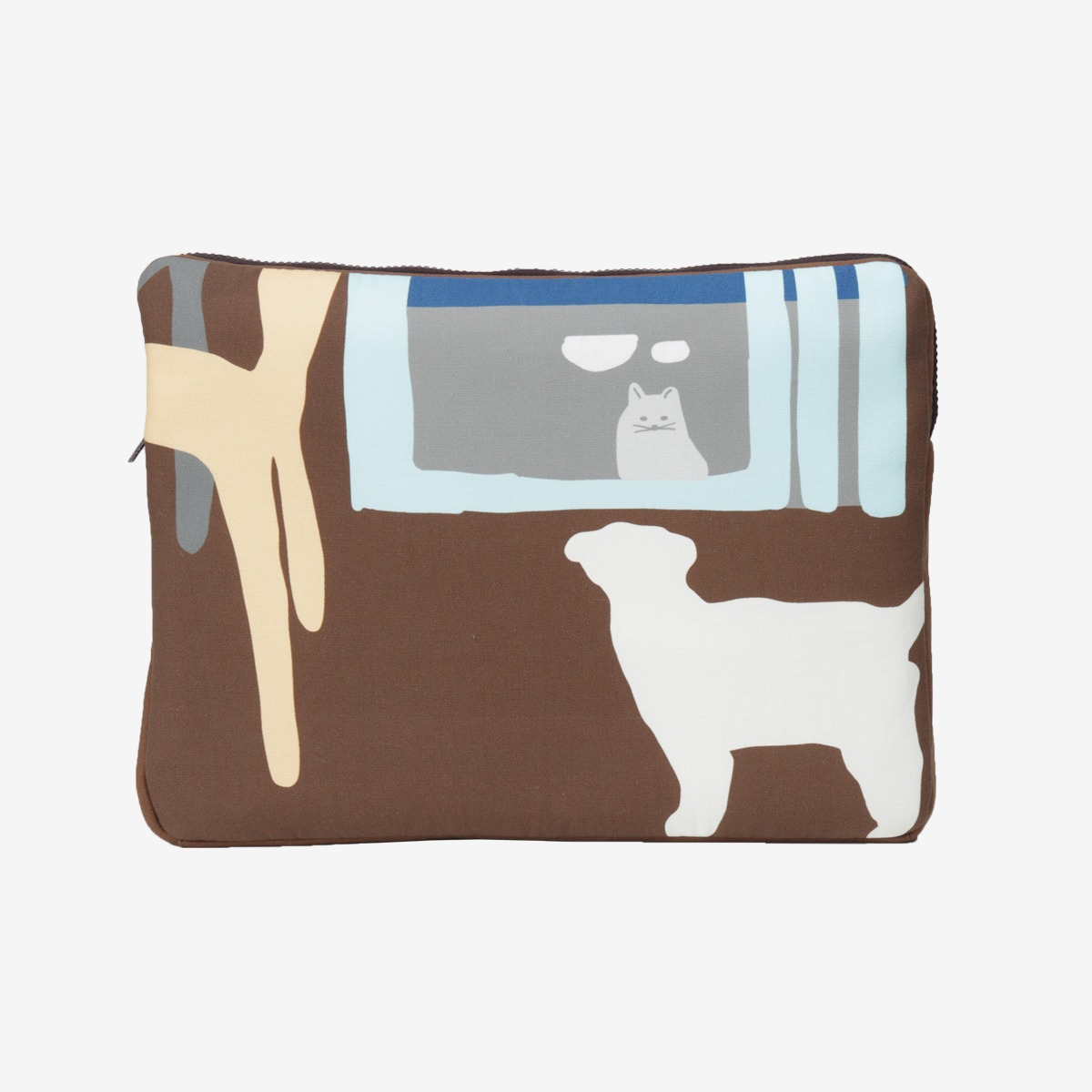 the window - brown laptop case